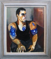 Portrait of Johnny with Tattoos (Contemporary Male Figure with Muscle)