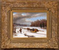 Winter Sleighing Scene