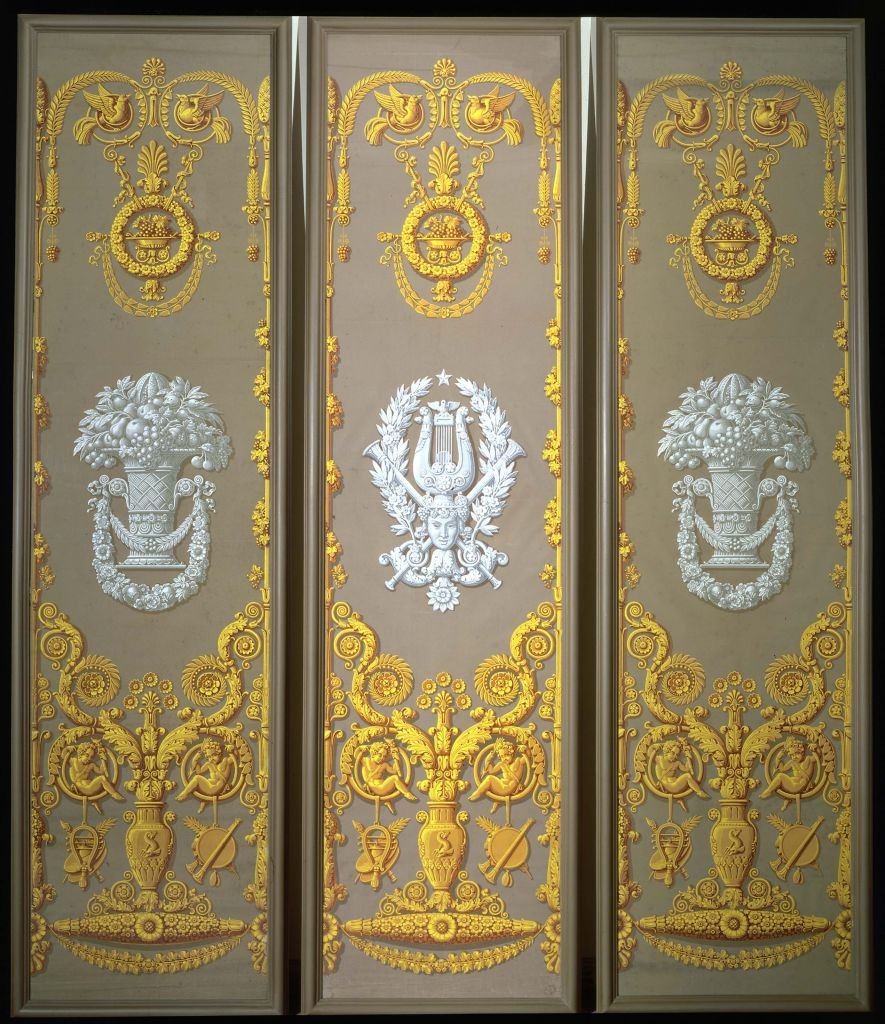 Jacques christopher xavier mader suite of three for Wallpaper sheets for sale