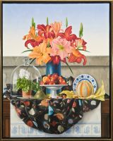 Still Life with Daylilies and Primula