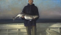 Boy with Striped Bass