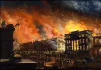 View of the Great Fire in New York