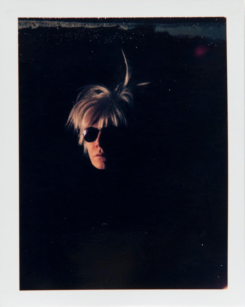 Andy Warhol Self-Portrait in Fright Wig - Photograph by Andy Warhol