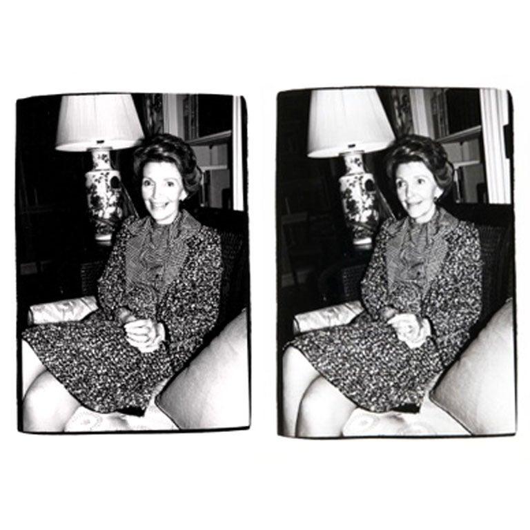 Andy Warhol Portrait Photograph - Nancy Reagan I and II