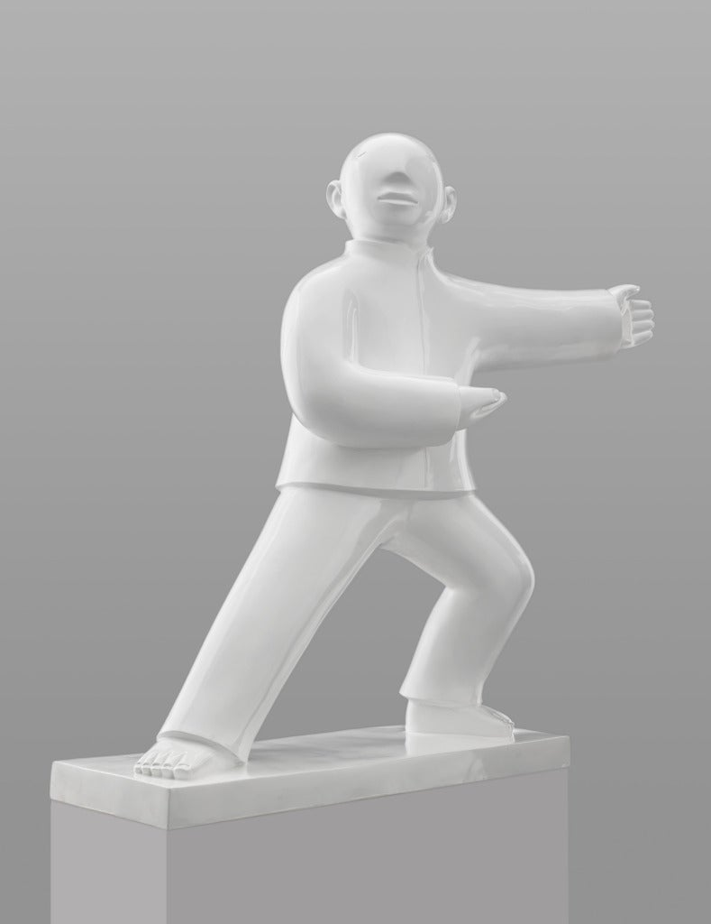 Large Bronze Sculpture - Tai Ji (Tai Chi) by noted Chinese artist Xie Ai Ge For Sale 1