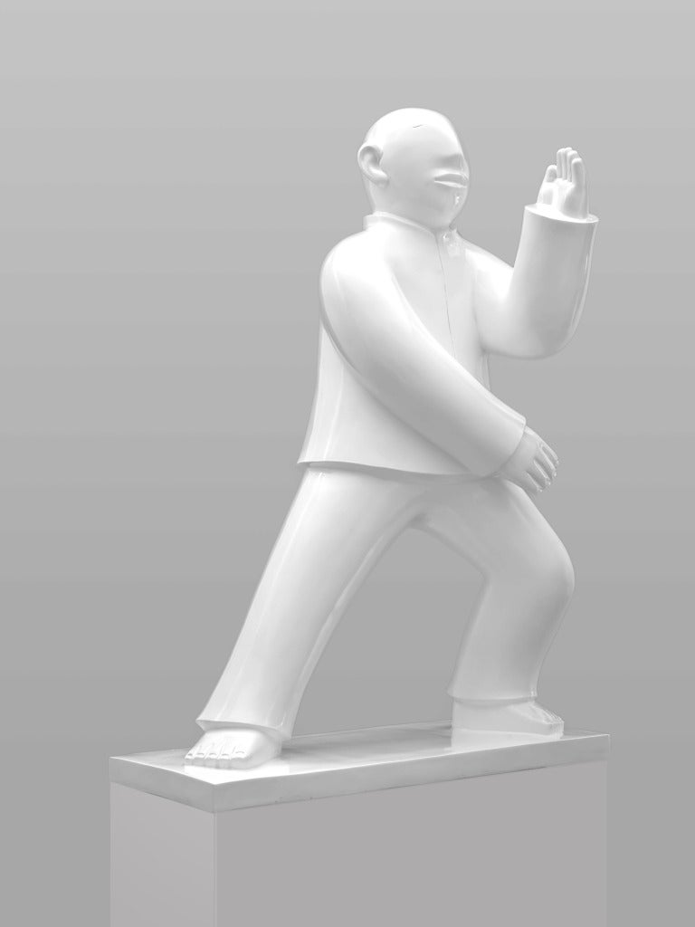 Large Bronze Sculpture - Tai Ji (Tai Chi) by noted Chinese artist Xie Ai Ge For Sale 2