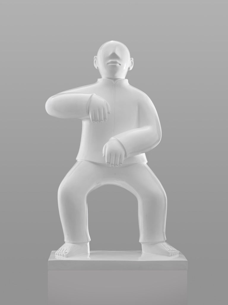 Large Bronze Sculpture - Tai Ji (Tai Chi) by noted Chinese artist Xie Ai Ge For Sale 3