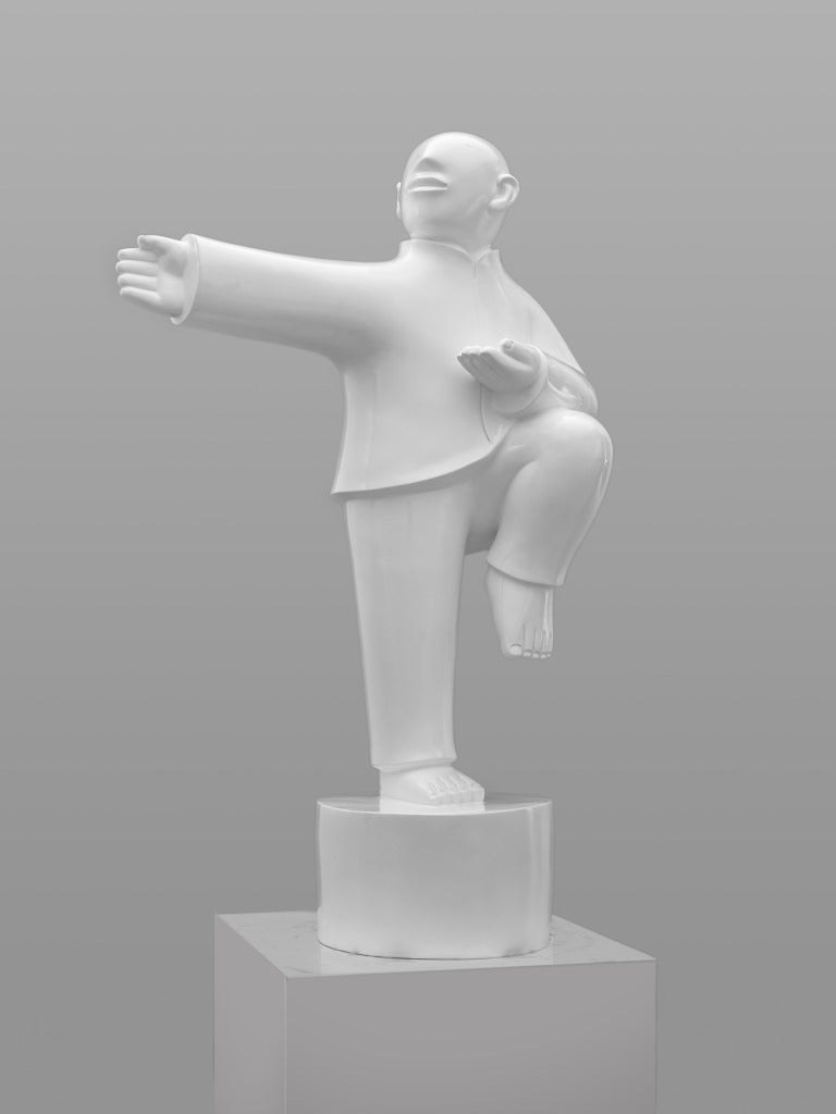 Large Bronze Sculpture - Tai Ji (Tai Chi) by noted Chinese artist Xie Ai Ge For Sale 4