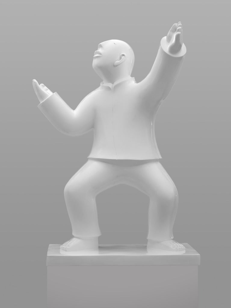Large Bronze Sculpture - Tai Ji (Tai Chi) by noted Chinese artist Xie Ai Ge For Sale 6