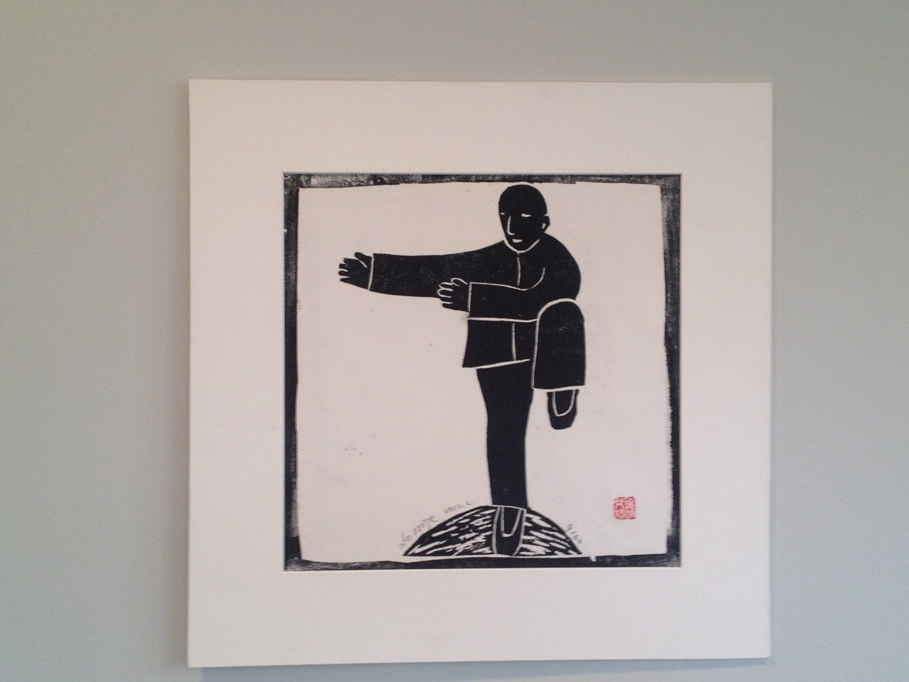 Xie Ai Ge is one of the most promising and noted rising young Chinese stars in the Asian art world, and international art scene, known for her series of Tai Ji sculptures.  For this series of wood block prints - there are 12 different poses. Edn