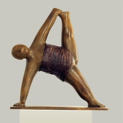 Yoga - Bronze Sculpture No.3 - by noted Chinese artist Xie Ai Ge