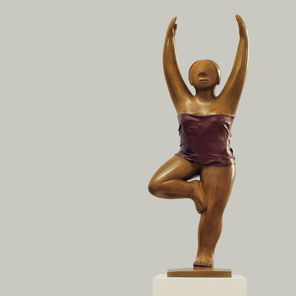 Bronze Sculpture - Yoga, No. 6, 2009 by noted Chinese artist Xie Ai Ge