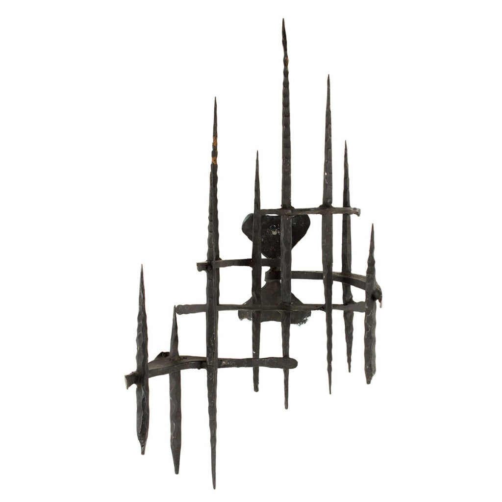 David Palombo - UNTITLED (HAND FORGED IRON WALL SCULPTURE), Sculpture at 1stdibs