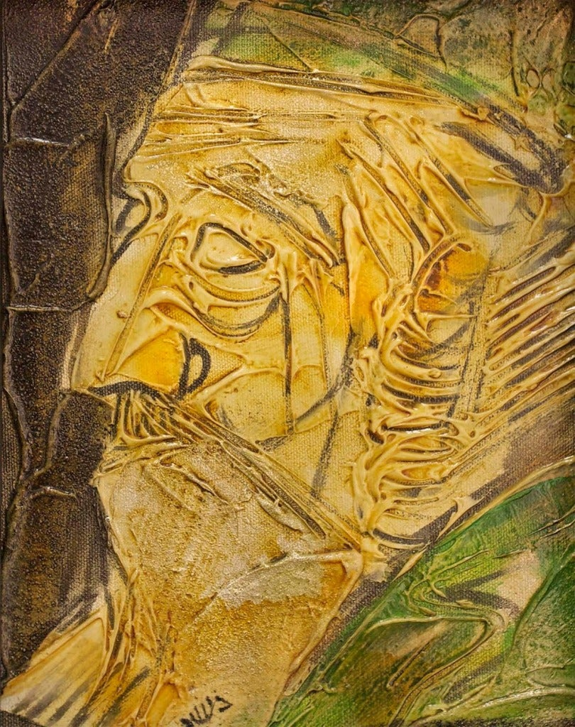 Moshe katz moshe katz mixed media israeli painting for Katz fine art