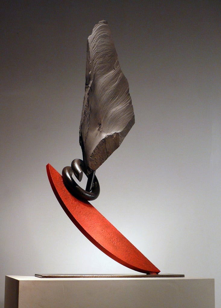 John Van Alstine Abstract Sculpture - Red Hips Hula II