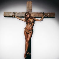 Raquel Welch On Cross