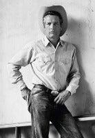 Paul Newman Cowboy Hat B/W