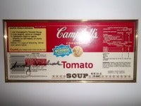 Andy Warhol Campbell's Soup Label (RARE Tomato Soup)