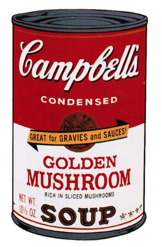 andy warhol campbell 39 s soup ii golden mushroom 1969 print at 1stdibs. Black Bedroom Furniture Sets. Home Design Ideas