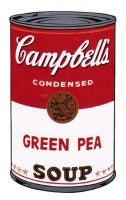 Campbells Soup I: Green Pea 1968