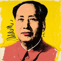 Mao, Yellow by Andy Warhol