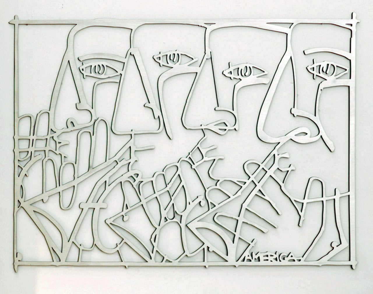To the North, the South, the East and the West -Musician Wall Sculpture