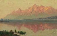 Teton Range - Wyoming - from Jackson Lake (Just after Sunrise)