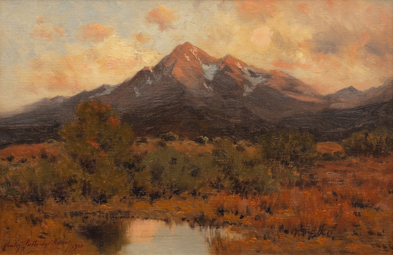 Charles Partridge Adams Mt Princeton At Sunset From