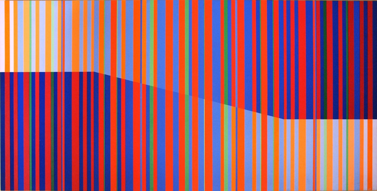 Racing Stripes II - Painting by Edward Goldman