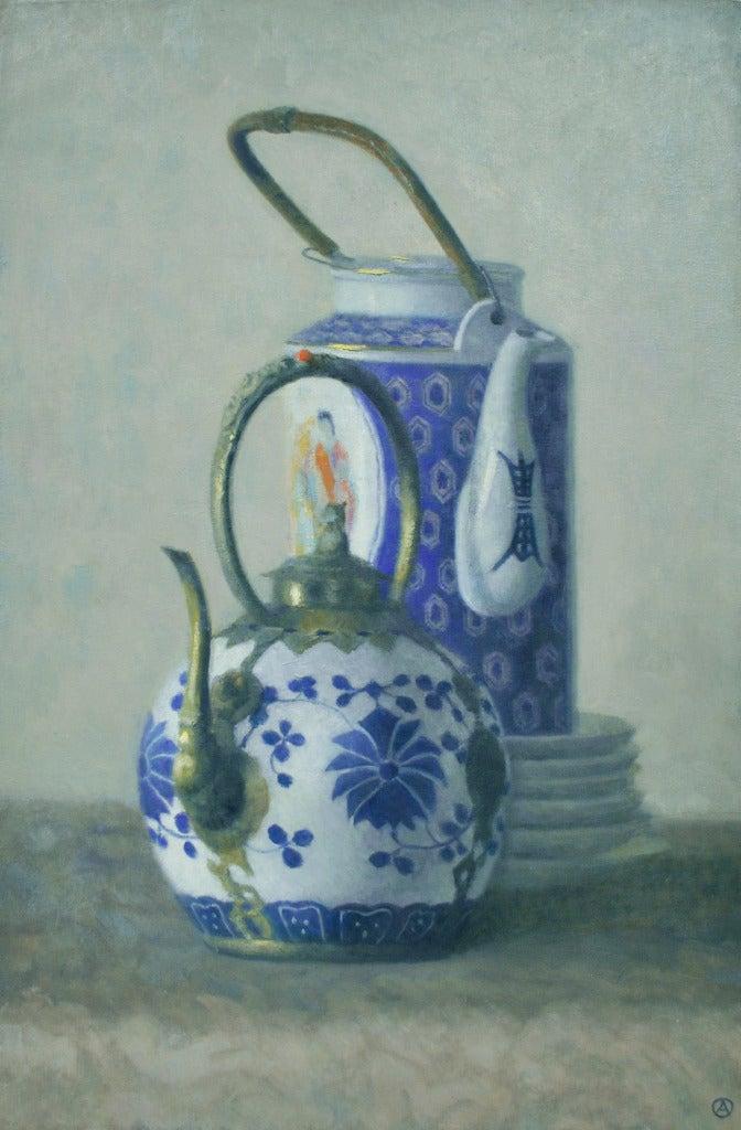 Olga Antonova - Two Chinese Teapots, Painting at 1stdibs