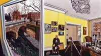 Jon Naar with his Photographs of Josef Albers and Andy Warhol
