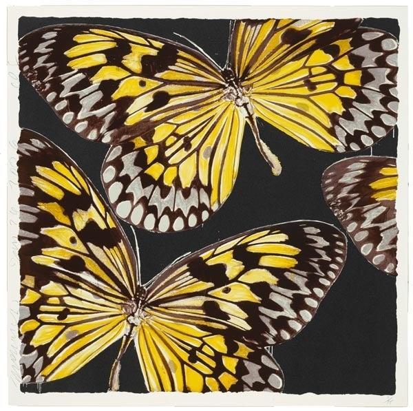 Donald Sultan Animal Print - Monarchs, Jan 24
