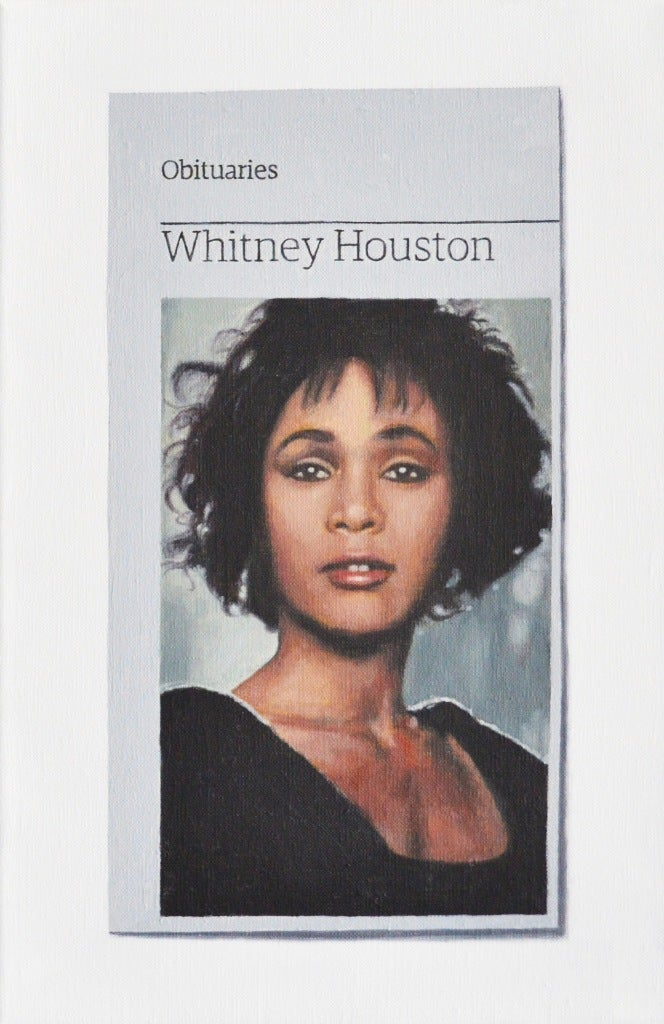 Hugh Mendes Obituary Whitney Houston Painting At 1stdibs