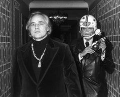 Marlon Brando and Ron Galella, New York