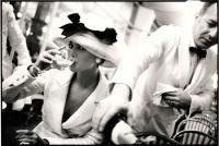 Christy Turlington at La Coupole, Paris, British VOGUE