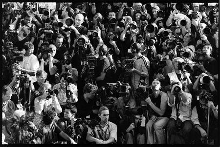 Photographers before the Louis Vuitton Fashion Show, Paris