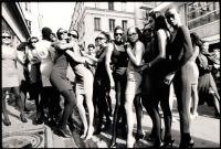 Models after the Azzedine Alaia Fashion Show, Paris