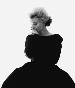 """Marilyn Monroe: From """"The Last Sitting"""" (VOGUE Black Dress)"""