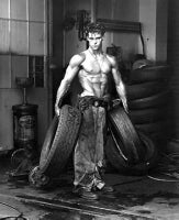 Herb Ritts - Fred with Tires, Hollywood, 1984