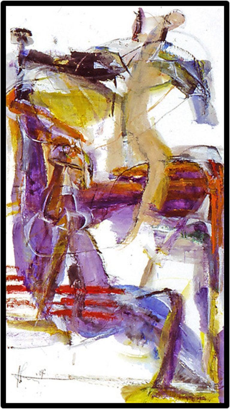 Andrew Lui Figurative Painting - Overture