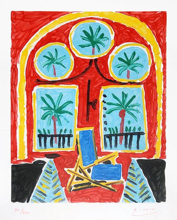 Pablo picasso la fenetre de l 39 atelier a la californie for Fenetre atelier