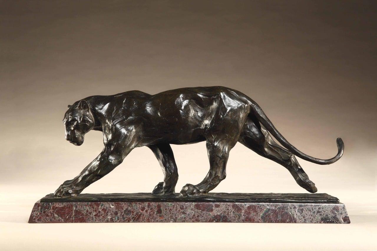 Walking Panther - Sculpture by Rembrandt Bugatti