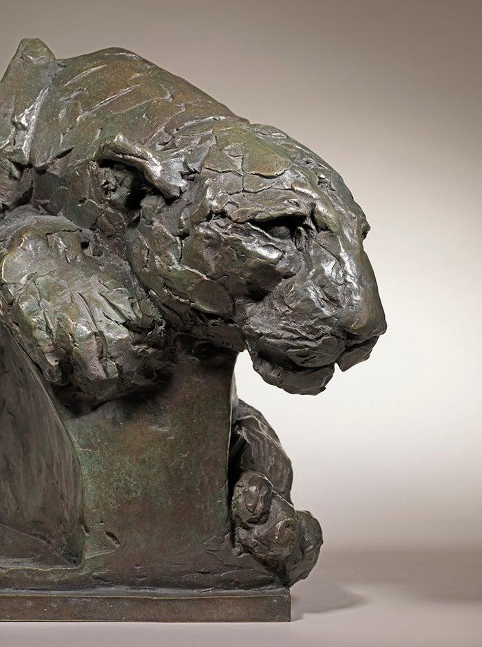 Mark Coreth Leopard Stalking Bronze Sculpture At 1stdibs
