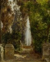 A fontain at the Villa d`Este in Tivoli, near Rome