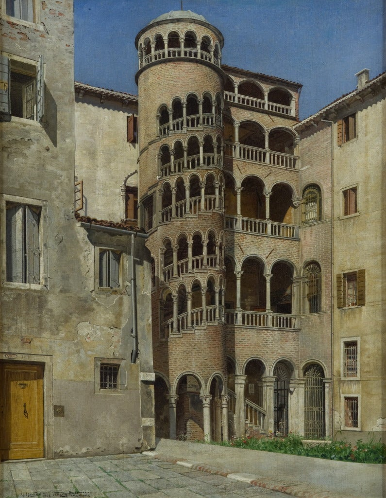 Josef Theodor Hansen Interior Painting - The Palazzo Contarini del Borolo