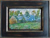 Paysage à la meule, impressionist landscape painting