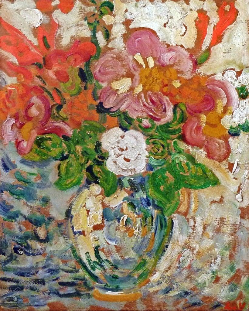 louis valtat fleurs dans un vase painting at 1stdibs. Black Bedroom Furniture Sets. Home Design Ideas