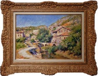 View of Laguépie in France landscape painting