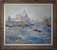 Venice - S. Maria della Salute by german impressionist painter Otto Pippel
