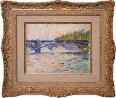 Bridges of Paris / Ponts du Paris. By Neo-impressionist artist Louis Hayet.